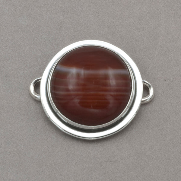 Tabra Banded Agate Charm