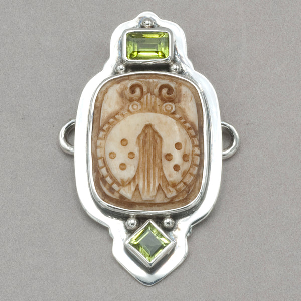 Tabra Peridot and Carved Bug Charm