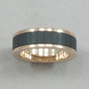 Italgem Black and Rose IP Stainless Steel Ring