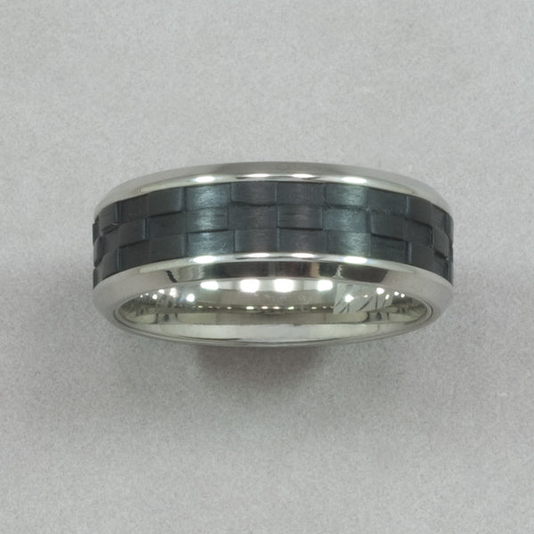 Italgem Stainless Steel and Carbon-Fiber Ring