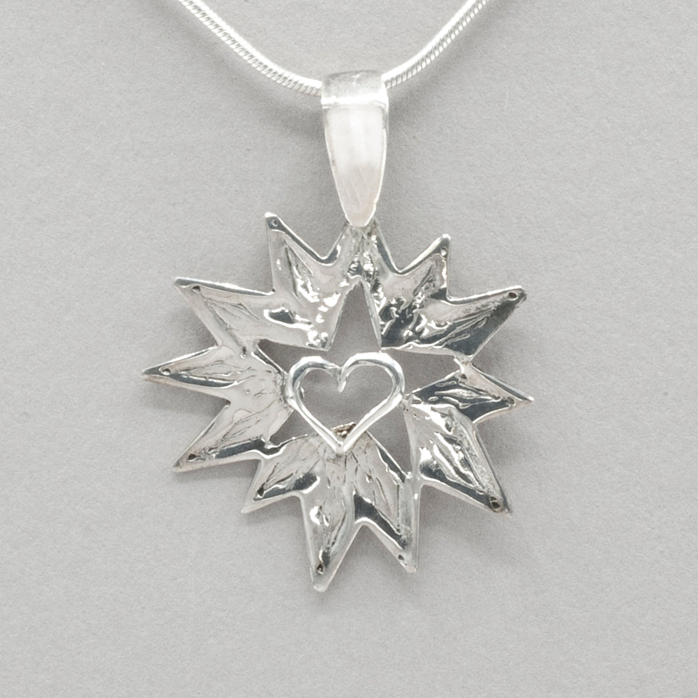 Jim Kelly Starburst Heart Pendant