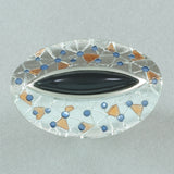Daniel Vior Citos Ring - Onyx and Blue and Orange Enamel