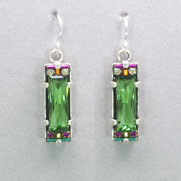 Firefly Rectangular Crystal Earrings