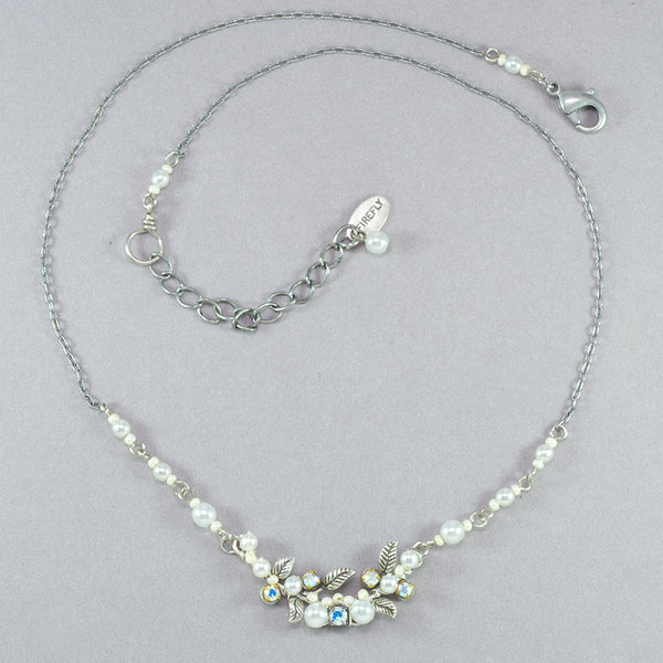Firefly Petite Flora Necklace - White