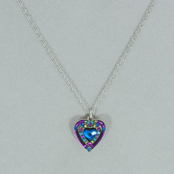 Firefly Crystal Heart Pendant Necklace