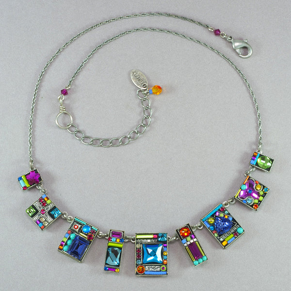 Firefly Geometric Large Necklace - Multicolor