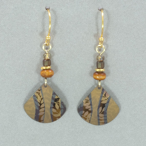 Holly Yashi Painterly Earrings - Amber Wave