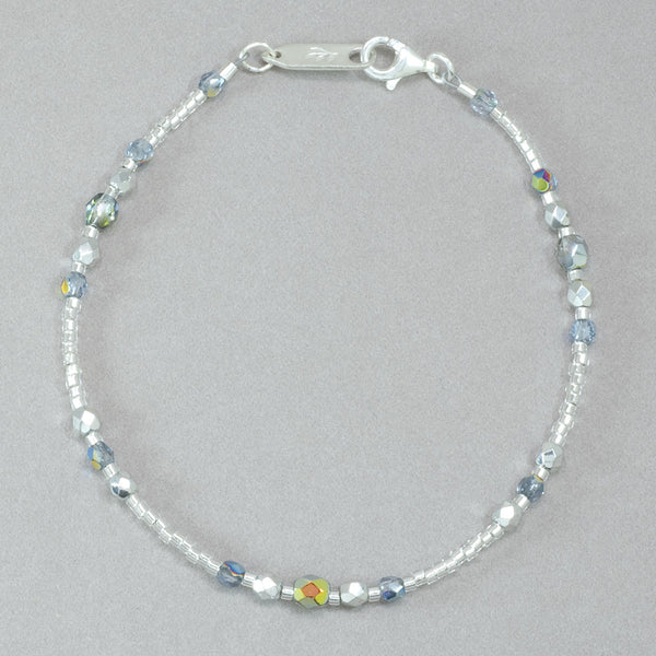 Holly Yashi Sonoma Glass Bead Bracelet - Silver