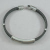 Italgem 18K Yellow Gold Black IP Steel Cable Bracelet