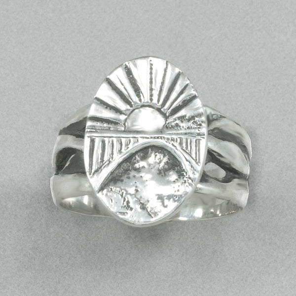 Jim Kelly 39th Anniversary Sterling Silver Rainbow Bridge Ring