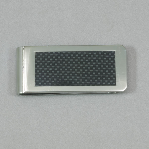Italgem S. Steel Black Carbon Fiber Money Clip