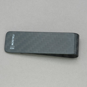 Italgem Small Black 3k Carbon Fiber Money Clip