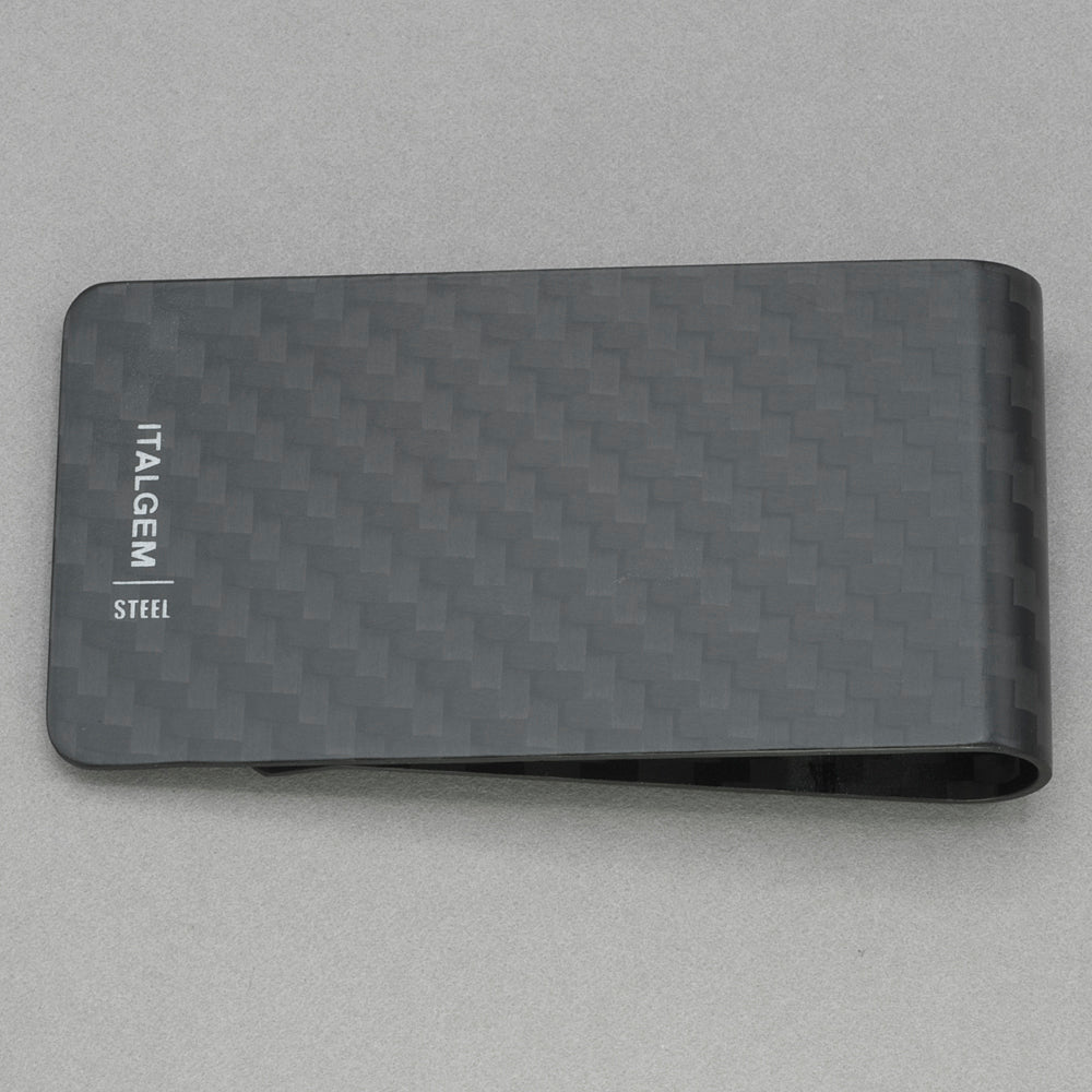 Italgem Medium Black 3K Carbon Fiber Money Clip
