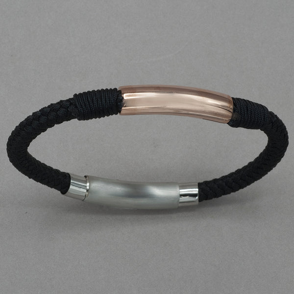 Italgem Rose Stainless Steel Nylon Bracelet
