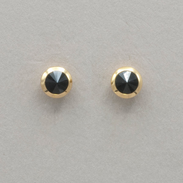 Italgem Black Pyramid Stud Earrings