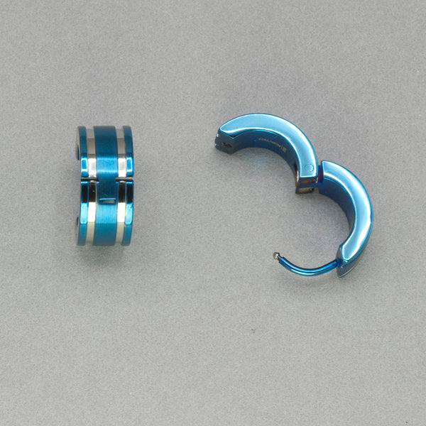 Italgem Blue Stainless Steel Earrings
