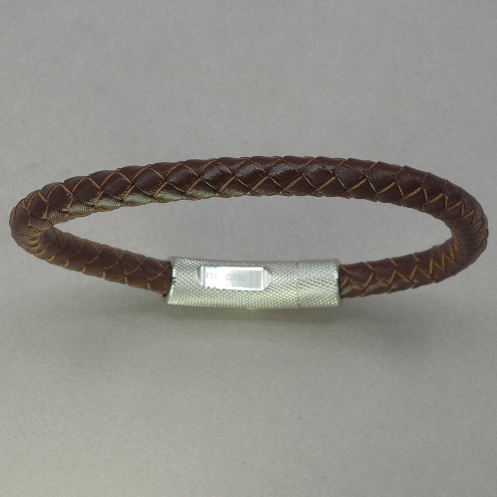 Italgem Brown Leather Bracelet