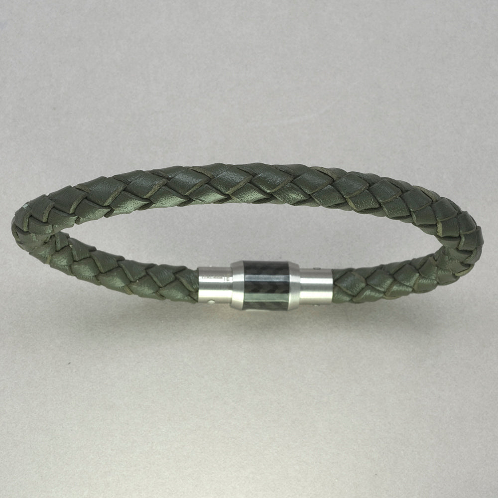 Italgem Army Green Leather Bracelet