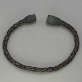Italgem Antique Brown Leather Bracelet