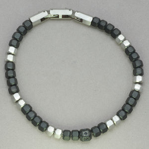 Italgem Black Beaded Bracelet