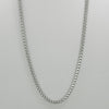 "Italgem S. Steel D-Cut Round Box-Link 24"" Necklace"