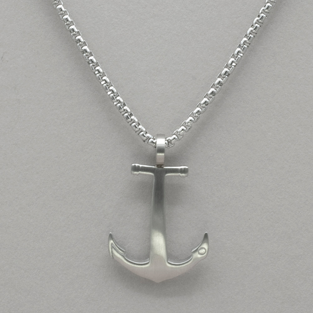 Italgem Stainless Steel Anchor Necklace
