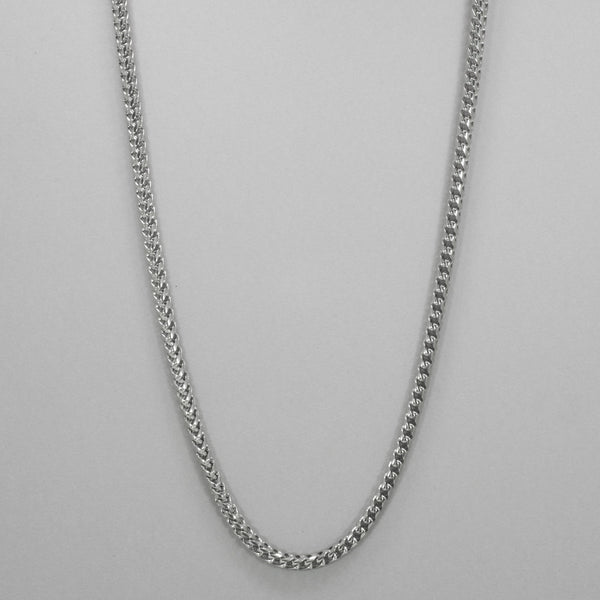 "Italgem S. Steel 5mm-Round Franco Polished 24"" Necklace"