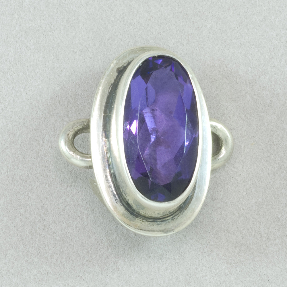 Tabra Oval Faceted Amethyst Charm