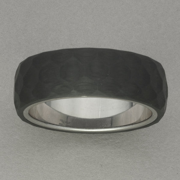 Italgem Carbon Fiber Textured Ring