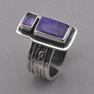 Tabra Sugilite and Amethyst Ring