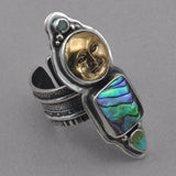 Tabra Bronze Face with Abalone Ring