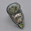 Tabra Ocean Jasper Jaguar and Peridot Ring
