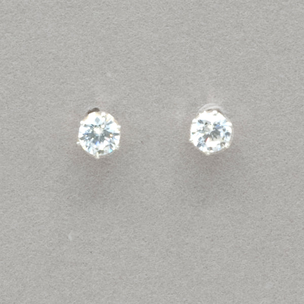 Boma Round Cubic Zirconia Post Earrings