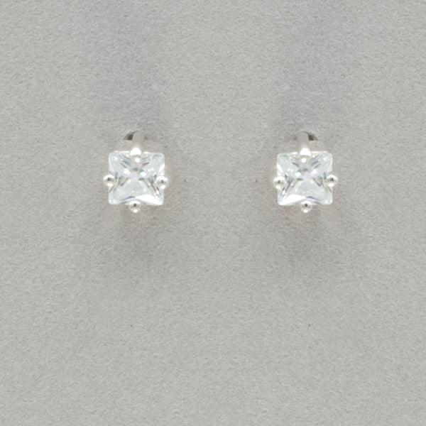 Boma Square Cubic Zirconia Post Earrings