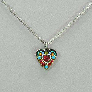 Firefly Small Crystal Heart Pendant Necklace