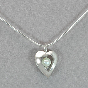 Jim Kelly Open Heart and Pearl Pendant