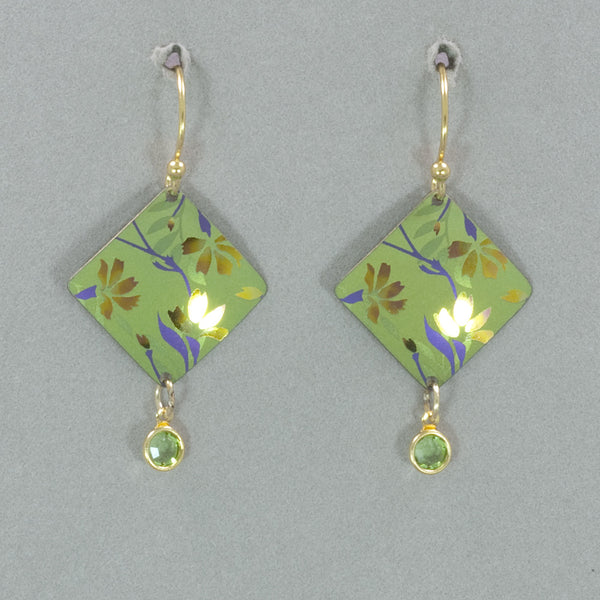 Holly Yashi Garden Sonnet Earrings - Green