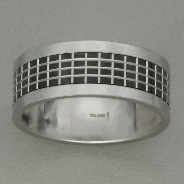 Italgem Stainless Steel Grid Spinner Ring