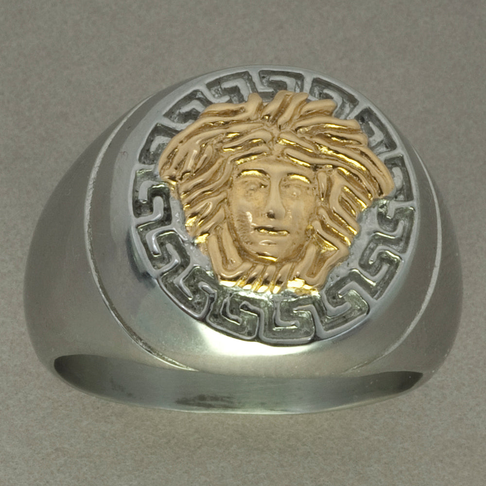 Italgem Stainless Steel Medusa Ring