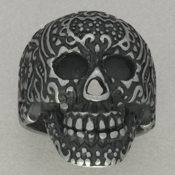 Italgem Stainless Steel Skull Ring