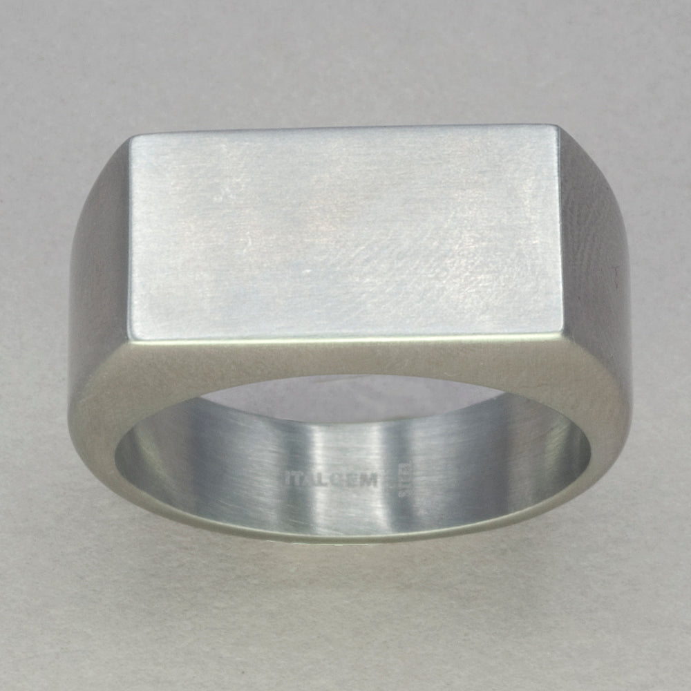 Italgem Stainless Steel Signet Ring