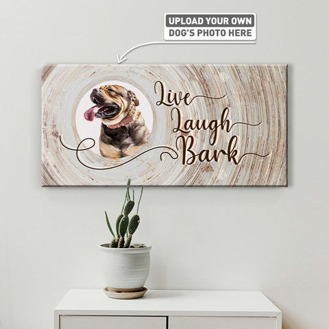 Live, Laugh, Bark | Personalized Canvas Wall Art