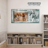 You, Me and the Dogs | Personalized Canvas Wall Art