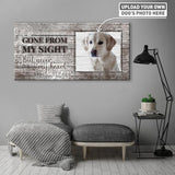 Gone From My Sight But Never My Heart | Personalized Canvas Wall Art