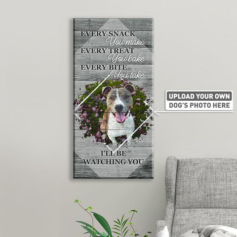 Every Snack You Make Every Treat You Bake I'll Be Watching You | Personalized Canvas Wall Art