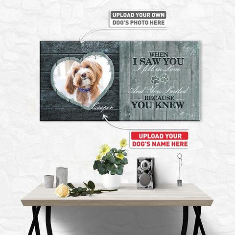 When I Saw You, I fell in Love… | Personalized Canvas Wall Art