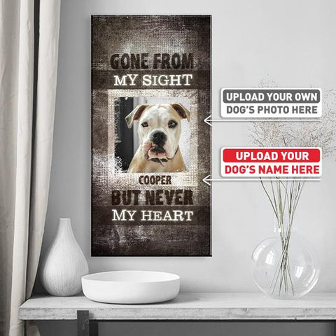 Gone From My Sight... | Personalized Canvas Wall Art