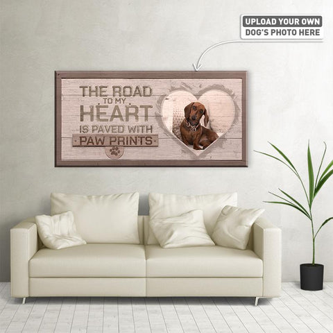 The Road to My Heart | Personalized Canvas Wall Art