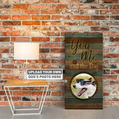 You, Me, and The Dog | Personalized Canvas Wall Art