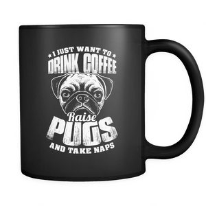 I just want to drink coffee pug mug